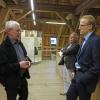 Dr. Frieder Klein im Gespräch mit Bürgermeister Magnus Hoppe